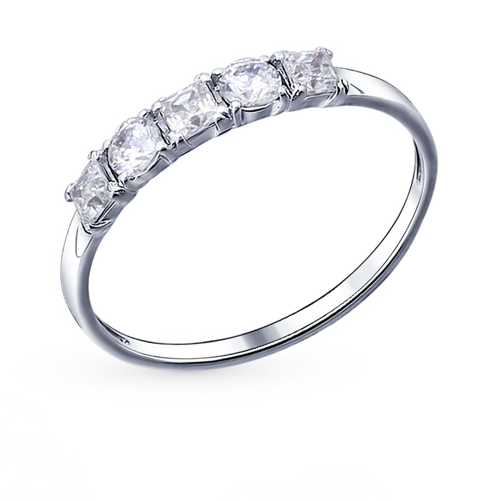 серебряное кольцо с фианитами SOKOLOV 94011486