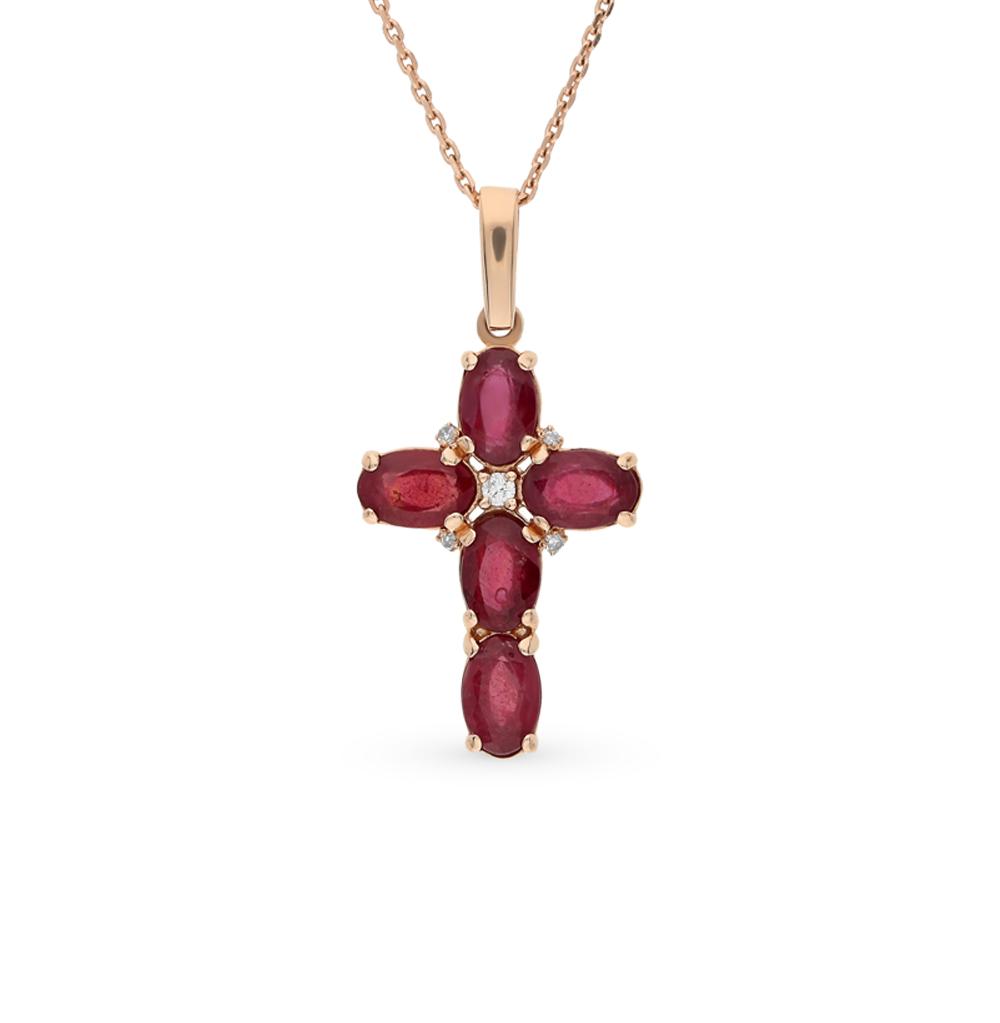 Фото «золото подвеска с рубинами и бриллиантами»