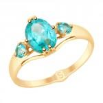 золотое кольцо с топазами SOKOLOV 715314