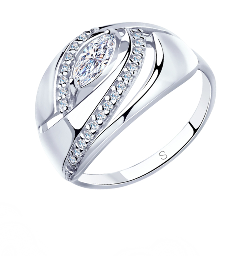 Серебряное кольцо с фианитами SOKOLOV 94012949 в Екатеринбурге