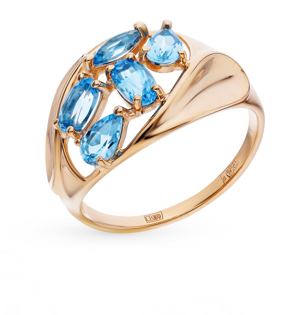 золотое кольцо с топазами SOKOLOV 714469*