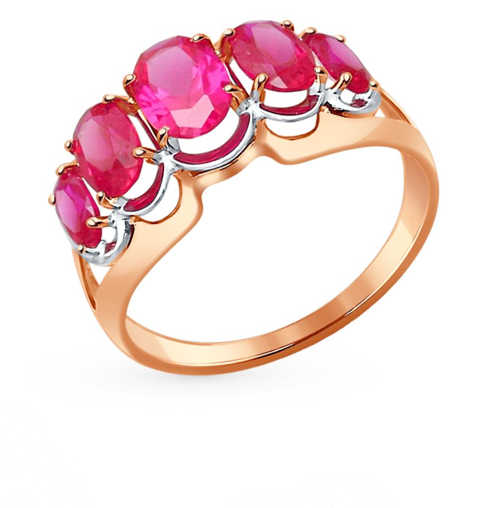 Фото «Золотое кольцо с рубинами и корундом SOKOLOV 714437*»