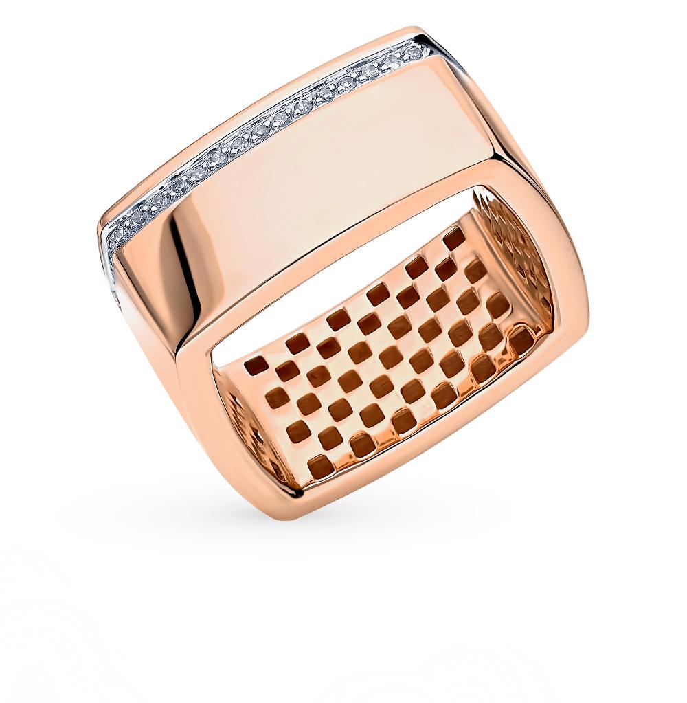 Фото «Золотое кольцо с бриллиантами SOKOLOV 1011959»