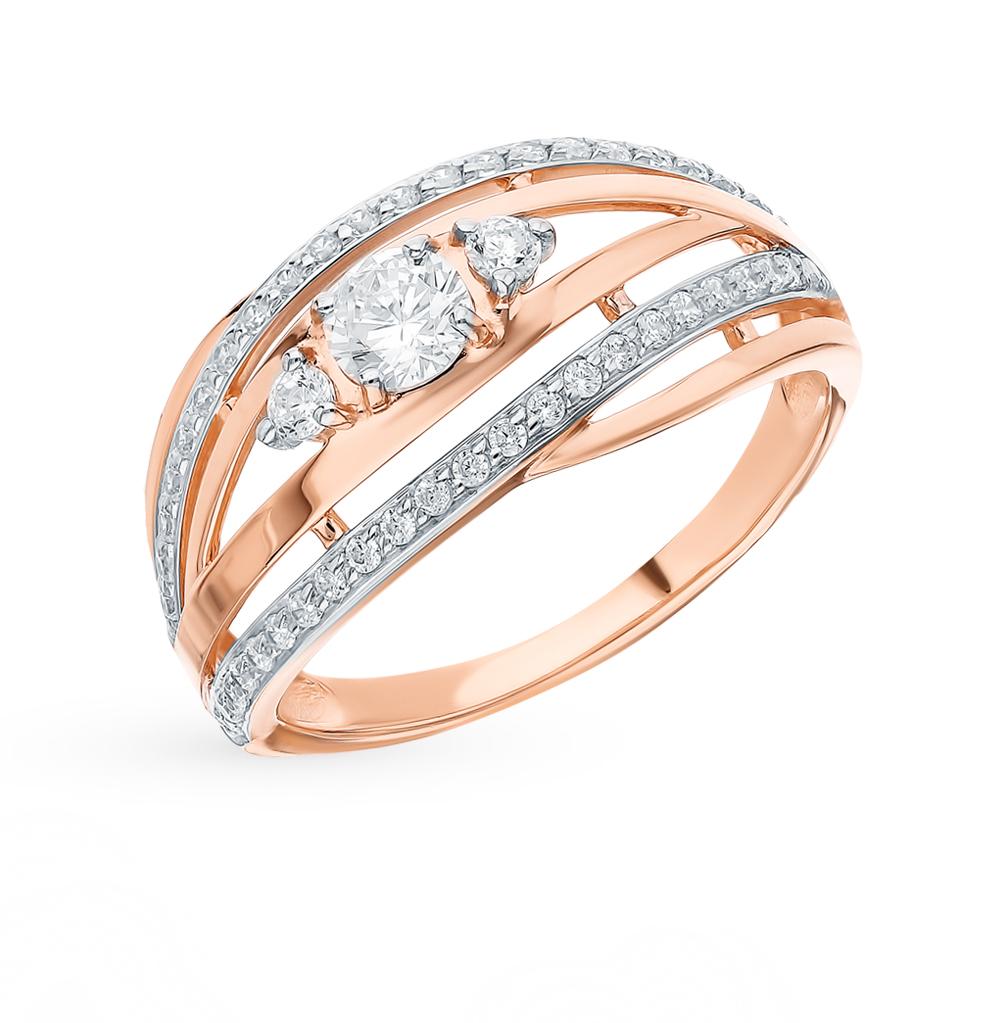 золотое кольцо с фианитами SOKOLOV 51-110-00629-1*