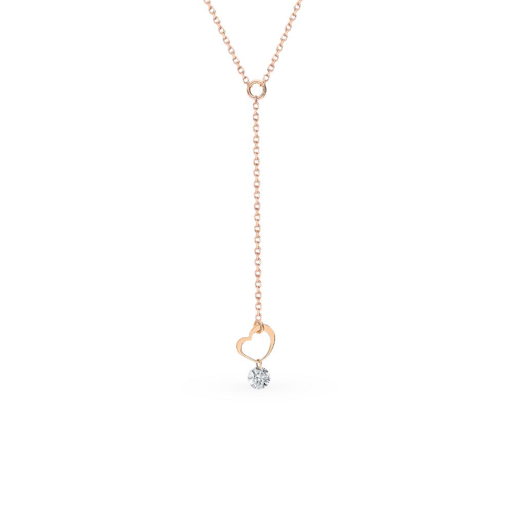 Золотое шейное украшение с бриллиантом