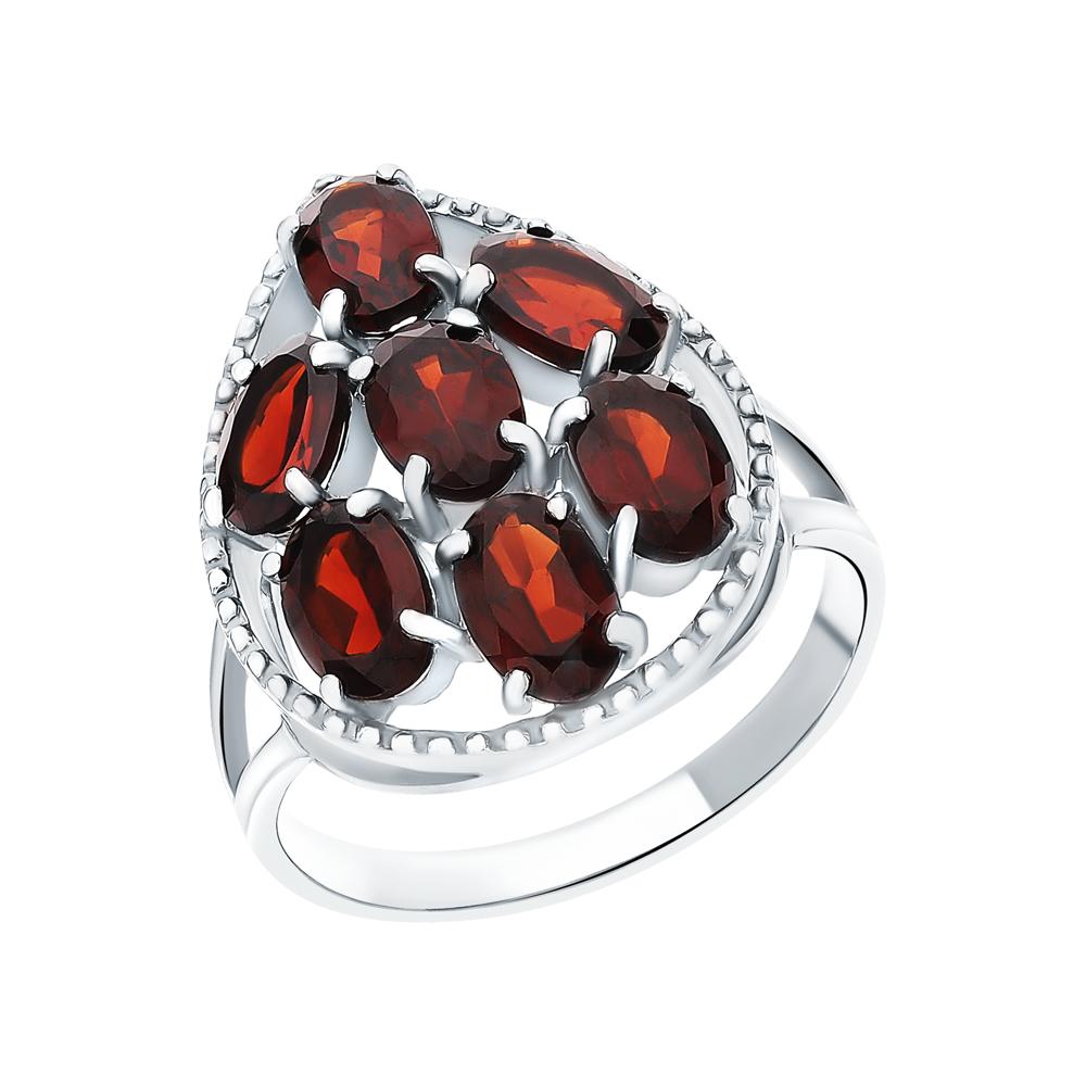 Серебряное кольцо с гранатом в Екатеринбурге