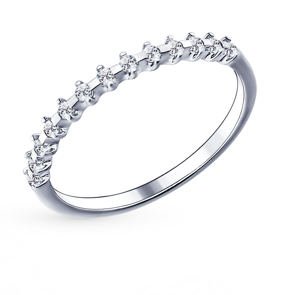 серебряное кольцо с фианитами и кубическими циркониями SOKOLOV 94011488
