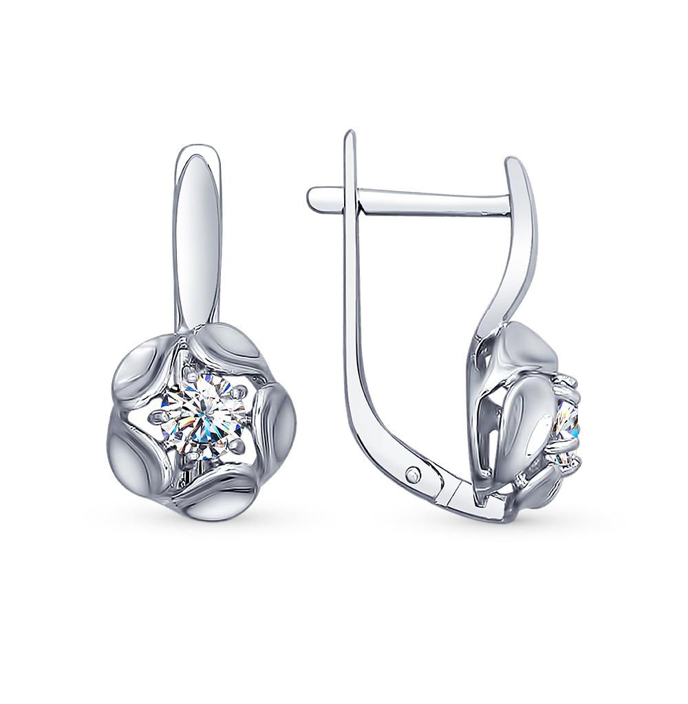 серебряные серьги с фианитами SOKOLOV 94022466