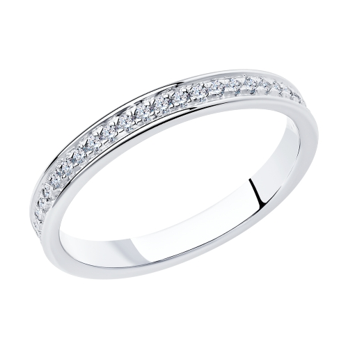 Фото «Серебряное кольцо с фианитами SOKOLOV 94012515»