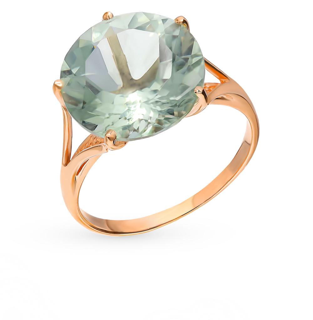 Фото «Золотое кольцо с аметистом и празиолитами»