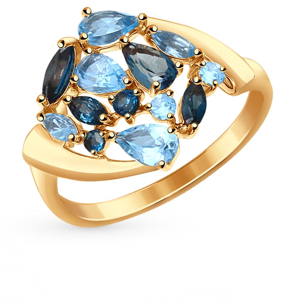золотое кольцо с топазами SOKOLOV 714728*