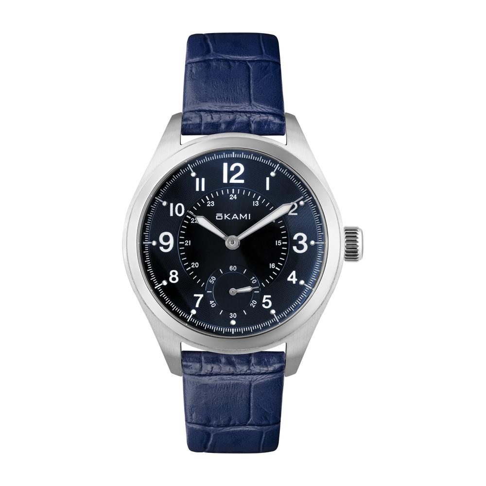 Женские часы на синем ремне из натуральной кожи в Санкт-Петербурге