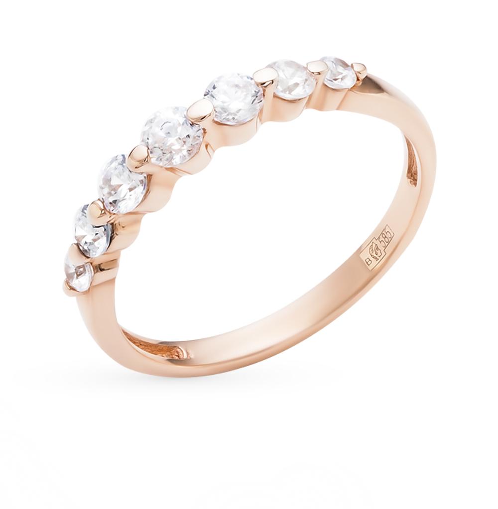 золотое кольцо с фианитами SOKOLOV 014952*