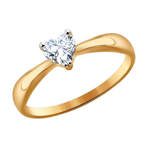 Фото «Золотое кольцо с фианитами SOKOLOV 016949*»