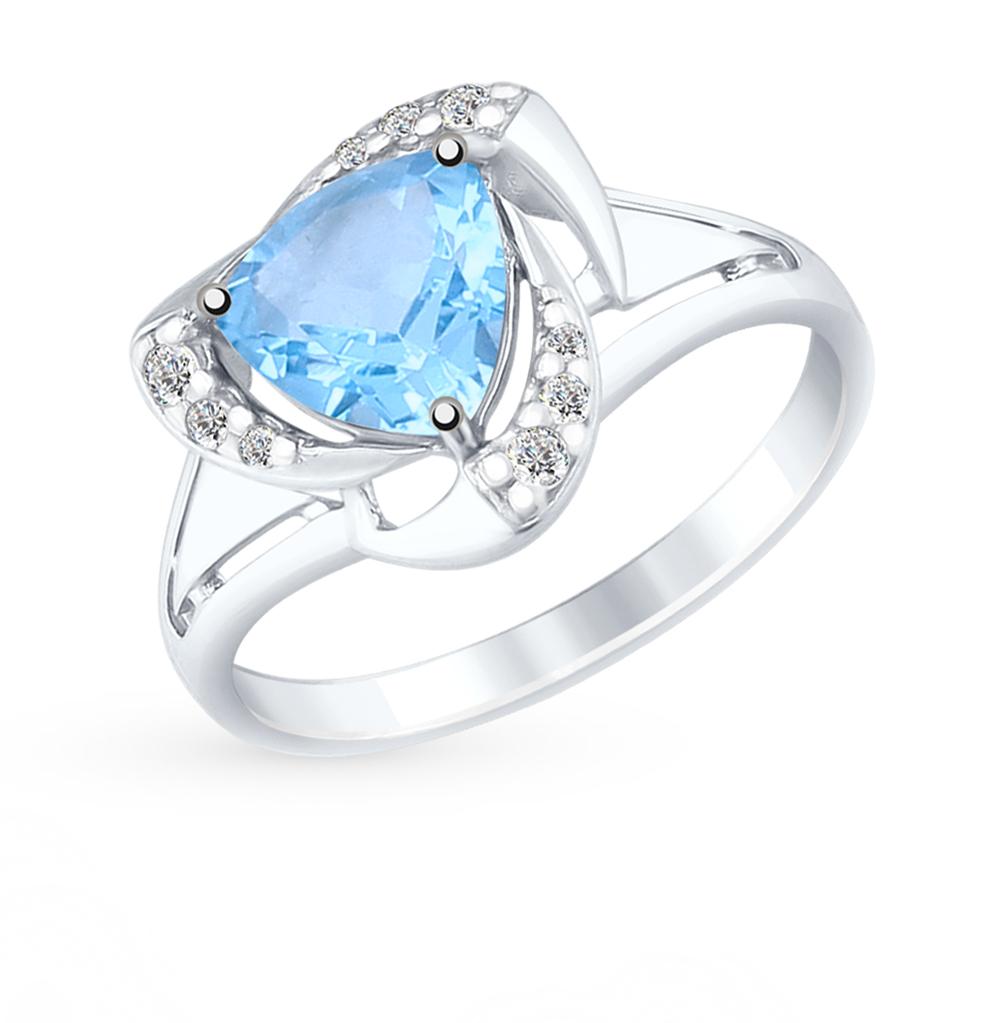 серебряное кольцо с топазами SOKOLOV 92011490