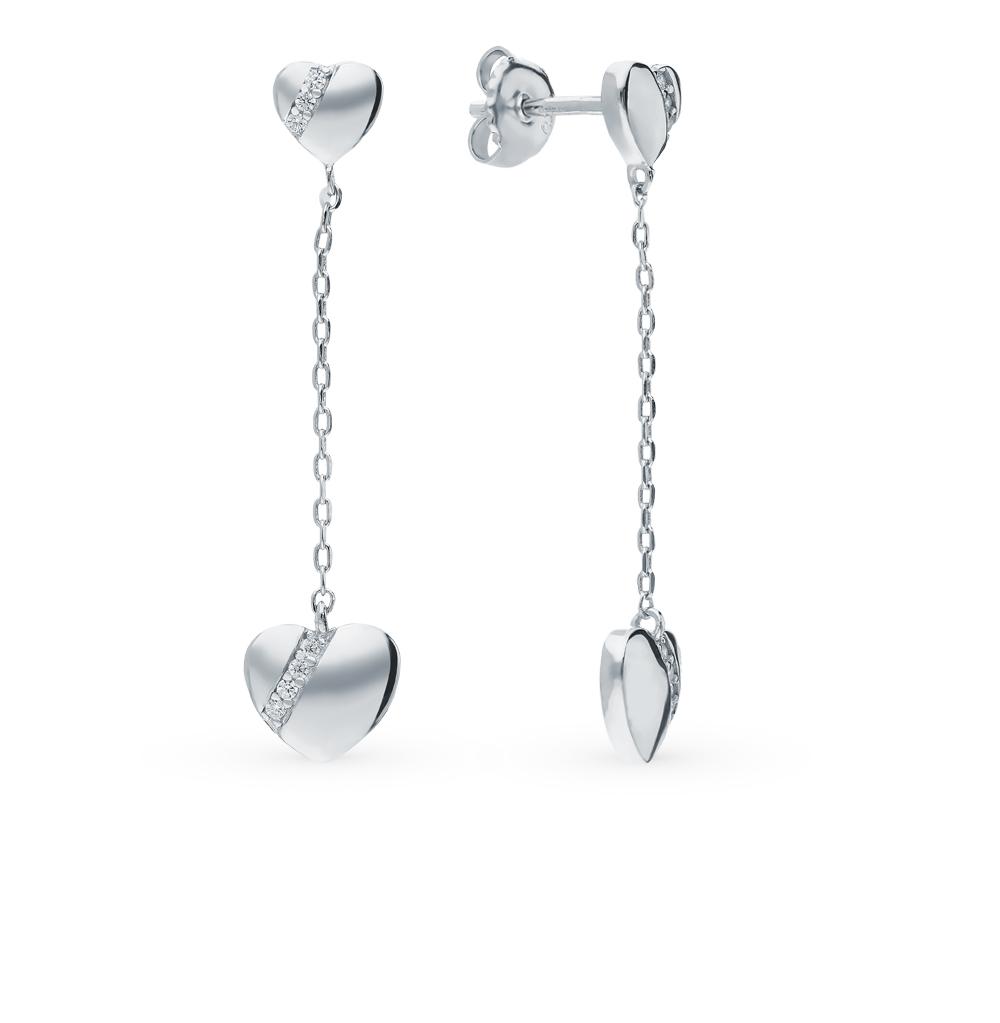 Серебряные серьги с фианитами в Екатеринбурге