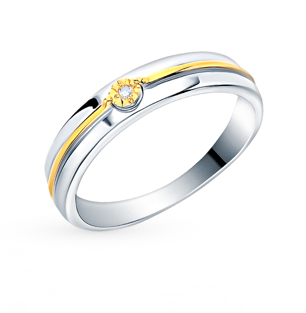 Фото «Серебряное кольцо с бриллиантами SOKOLOV 87010029»
