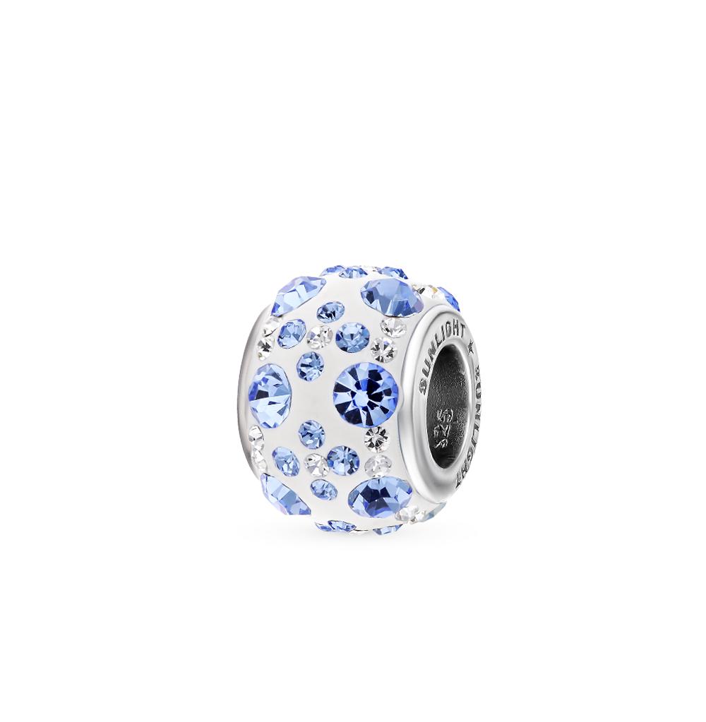Фото «Серебряная подвеска-шарм с кристаллами»