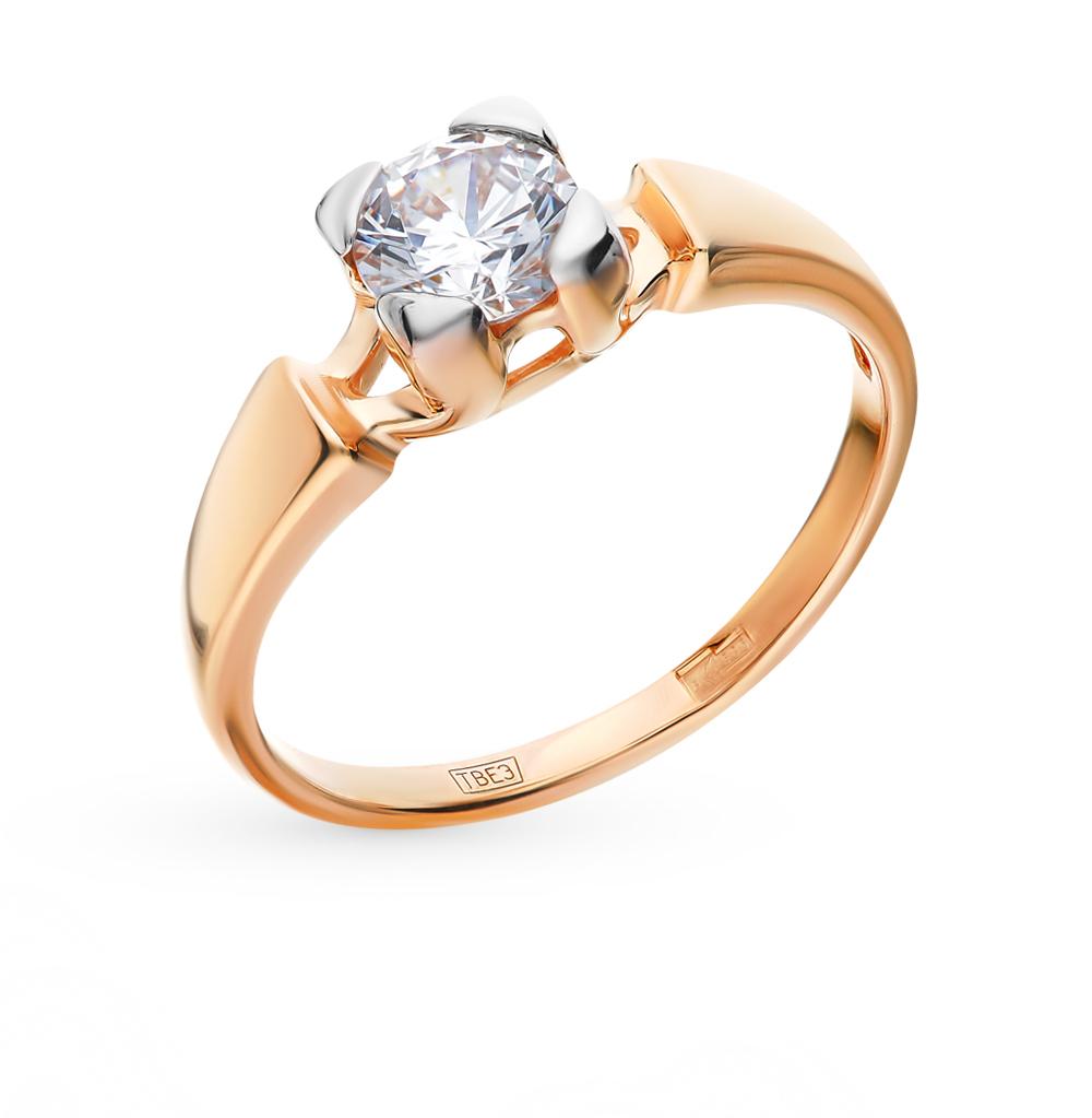 золотое кольцо с фианитами SOKOLOV 017525*