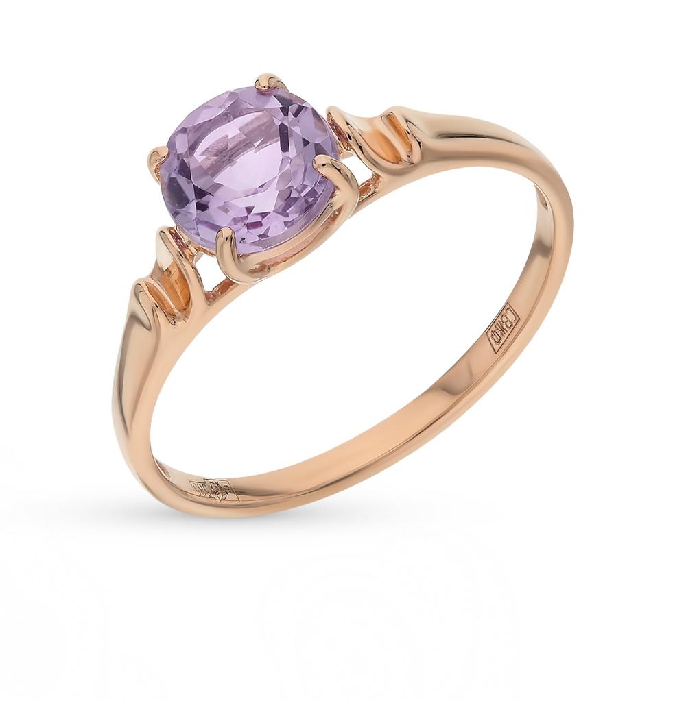 золотое кольцо с аметистом SOKOLOV 714490*