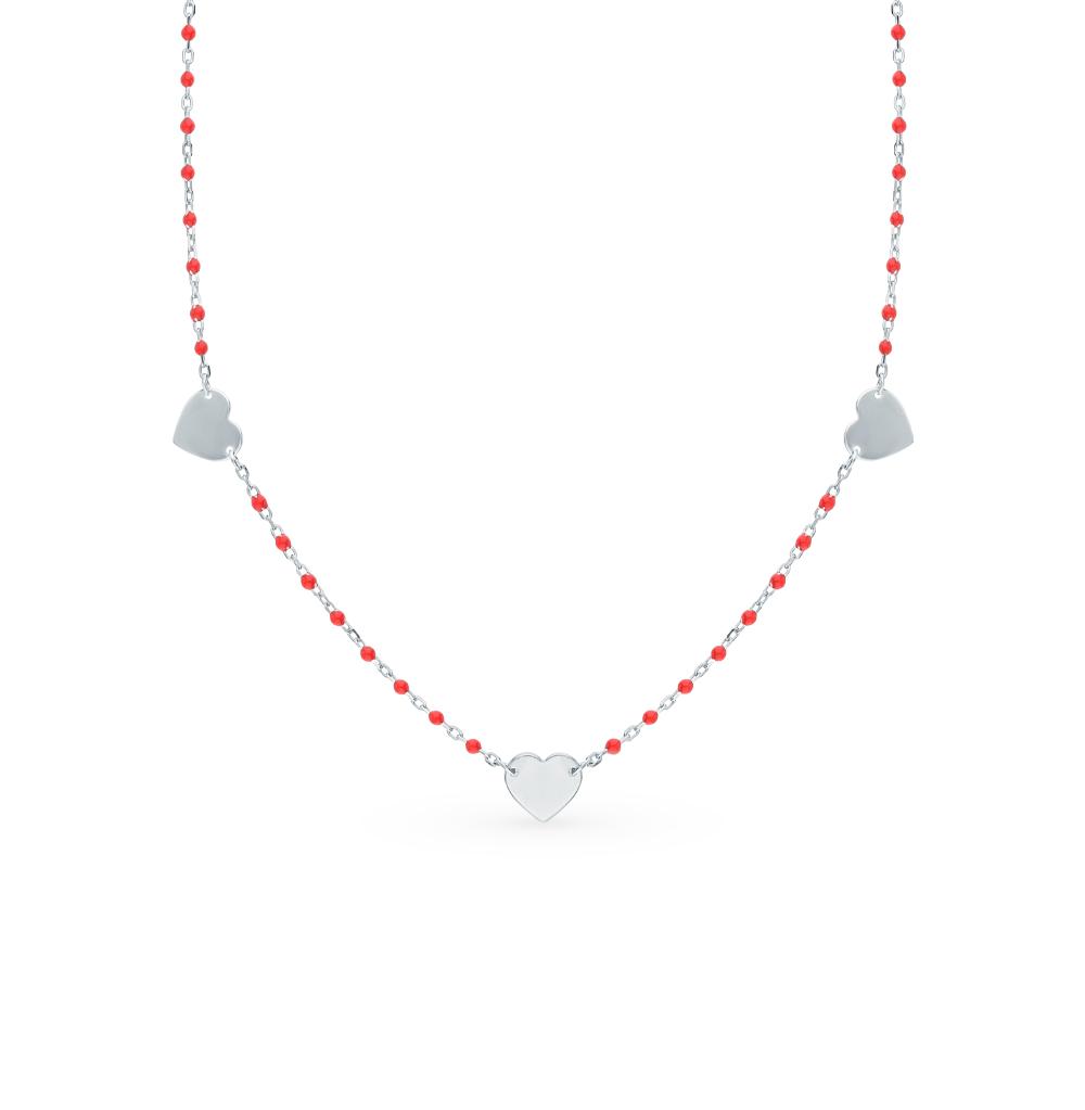 Фото «Серебряное шейное украшение с эмалью»