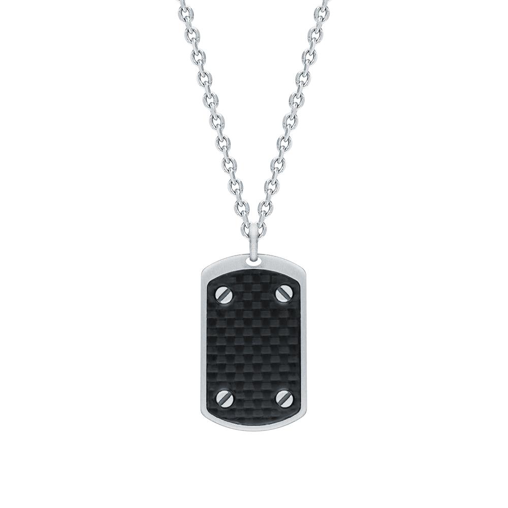 Фото «Серебряное шейное украшение с карбоном»