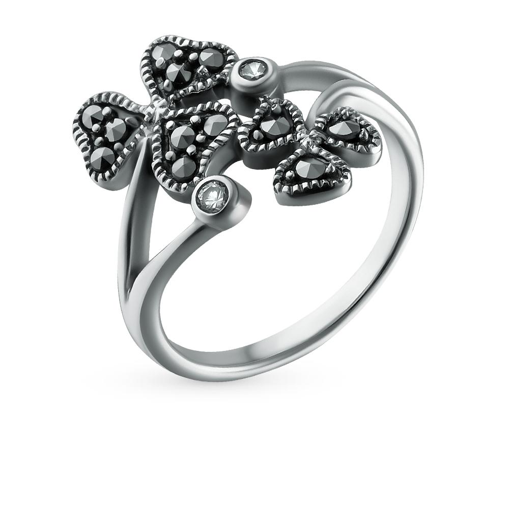 Фото «серебряное кольцо с марказитами и фианитами»
