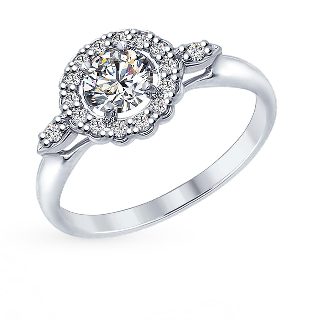 серебряное кольцо с фианитами SOKOLOV 94012595