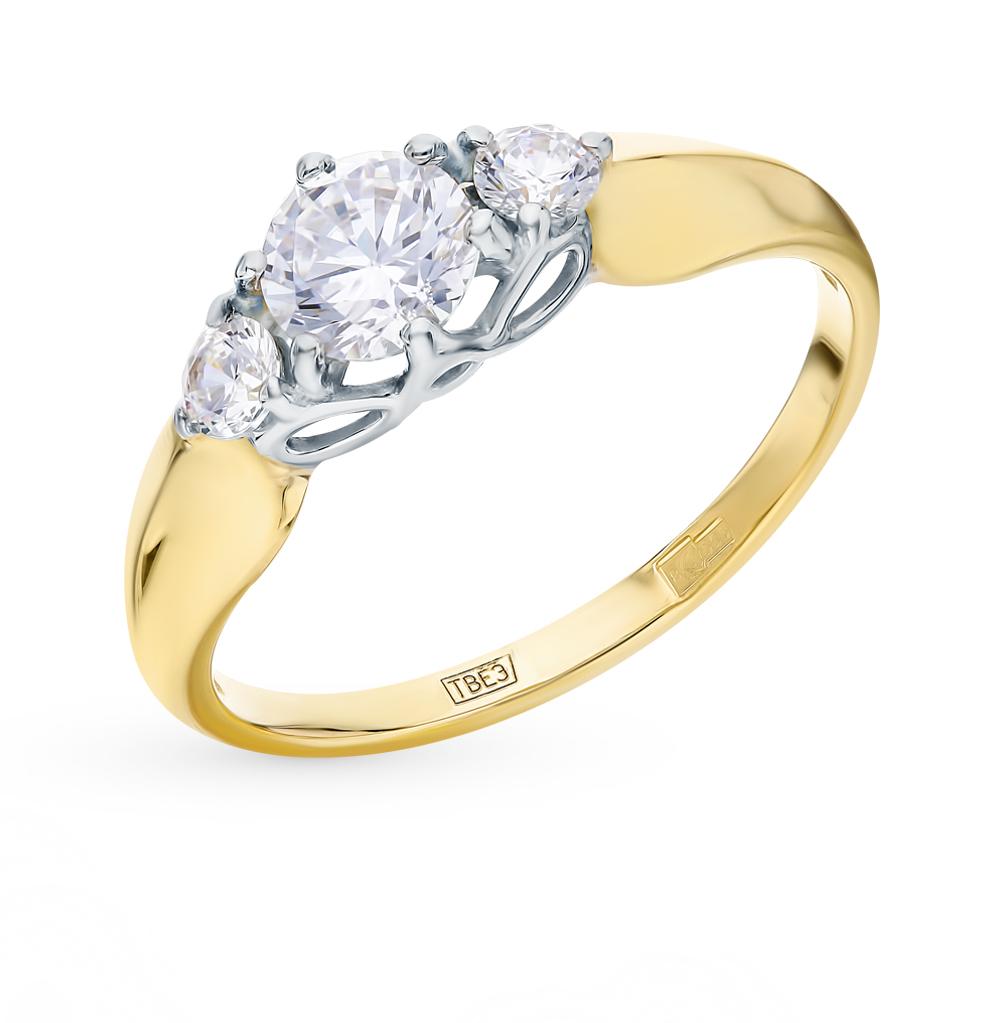 золотое кольцо с фианитами SOKOLOV 017492-2*
