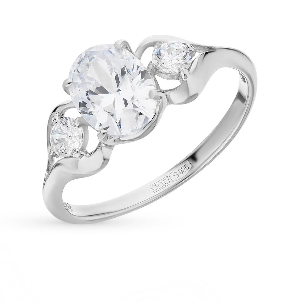 Фото «Серебряное кольцо с фианитами SOKOLOV 94012228»