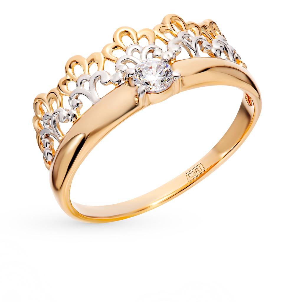 золотое кольцо с фианитами SOKOLOV 017514*