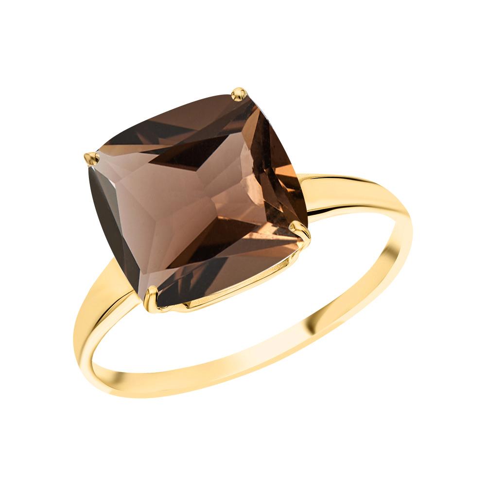Фото «Золотое кольцо с кварцами дымчатыми»