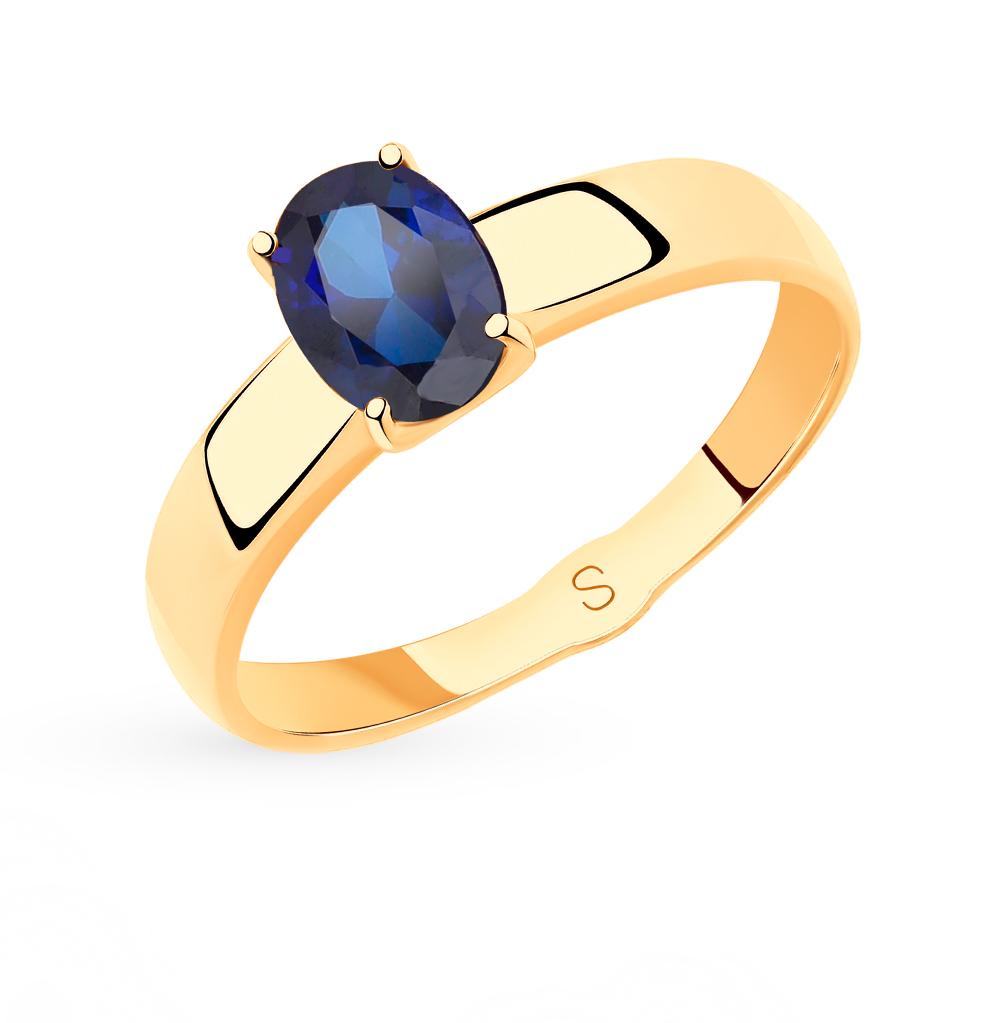 золотое кольцо с корундом SOKOLOV 715475