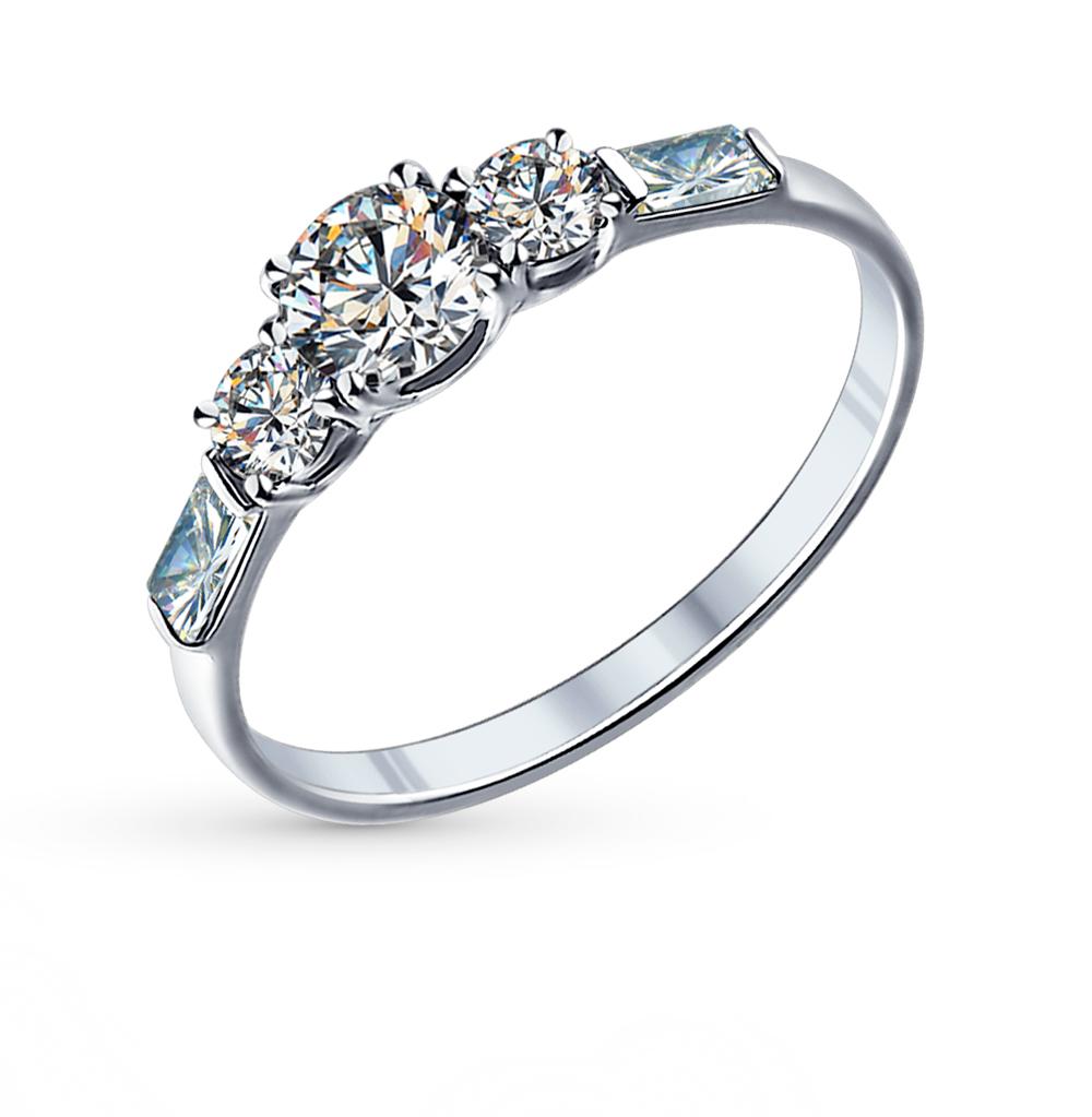 Фото «Серебряное кольцо с фианитами SOKOLOV 89010007»