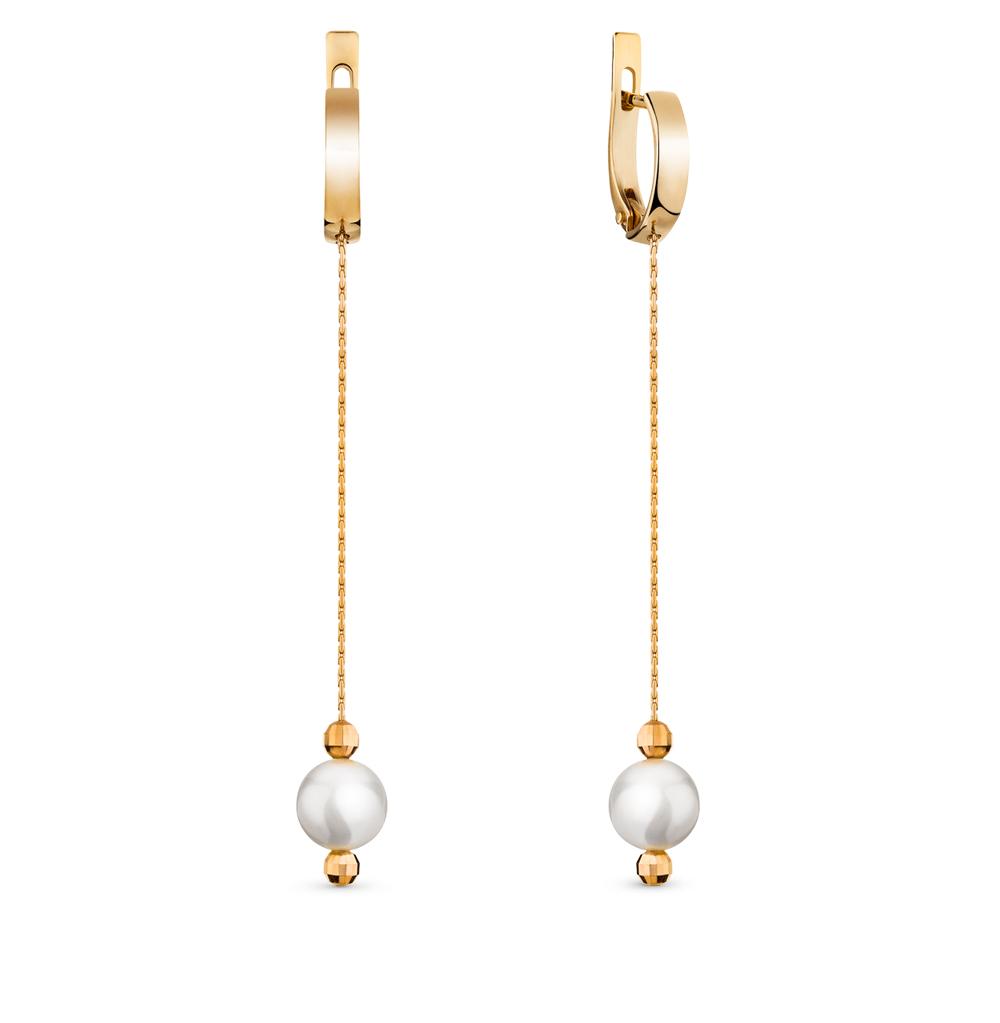 Фото «золотые серьги с жемчугом»