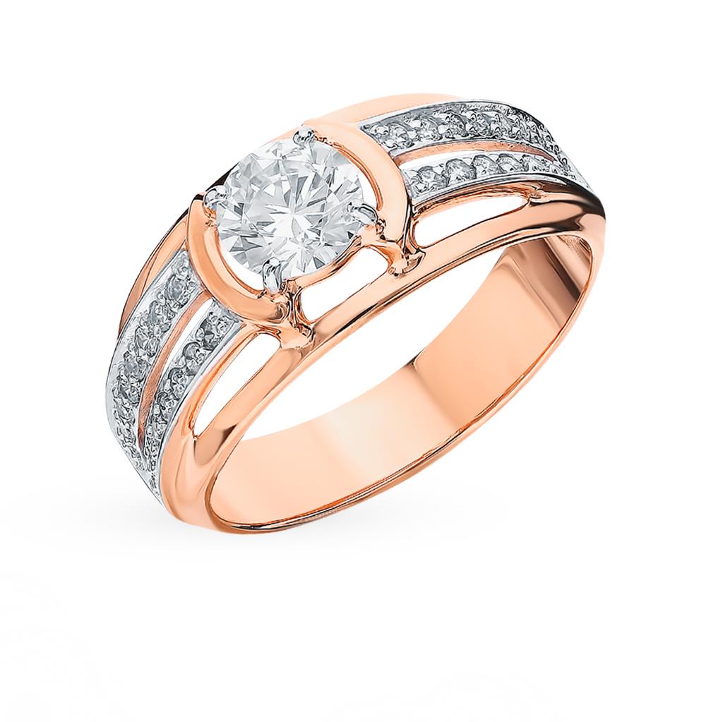 Золотое кольцо с фианитами SOKOLOV 018568* в Екатеринбурге