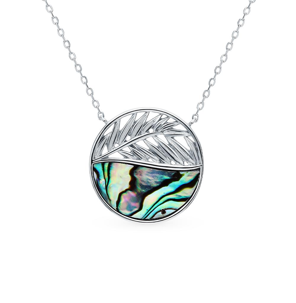 Фото «Серебряное шейное украшение с ракушками»