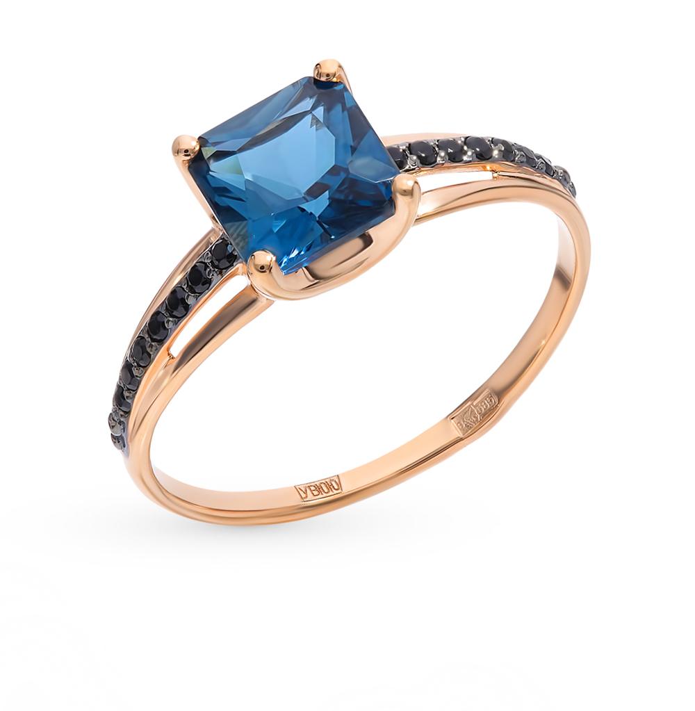 Фото «Золотое кольцо с топазами и фианитами SOKOLOV 715002*»
