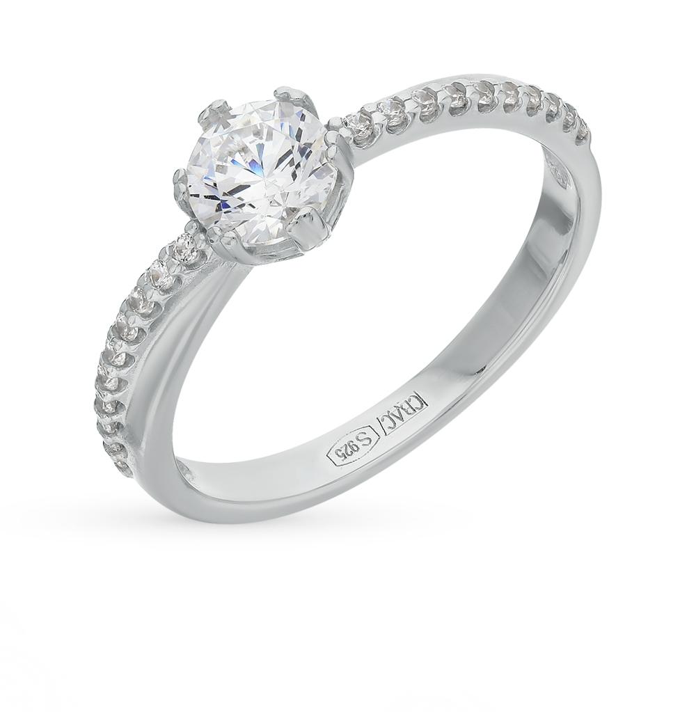 Фото «Серебряное кольцо с фианитами SOKOLOV 89010002»