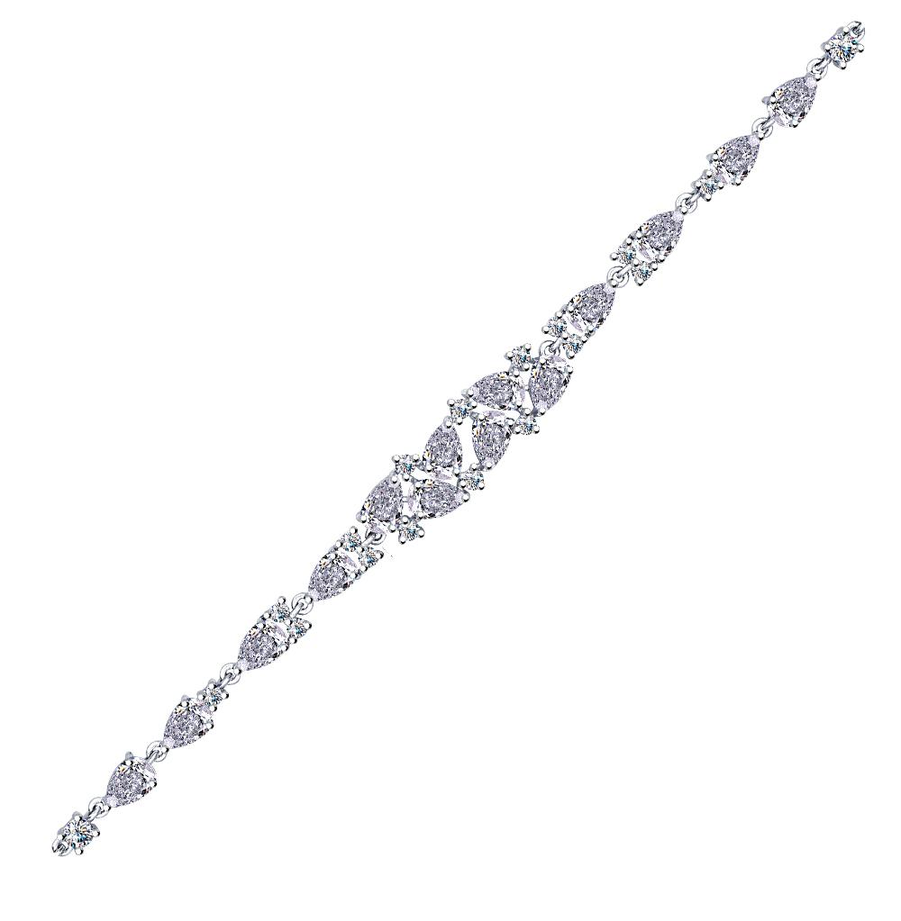 серебряный браслет с фианитами SOKOLOV 94050354