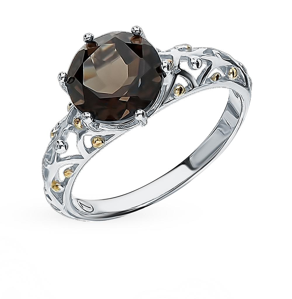 Фото «Серебряное кольцо с раухтопазом SOKOLOV 92011716»