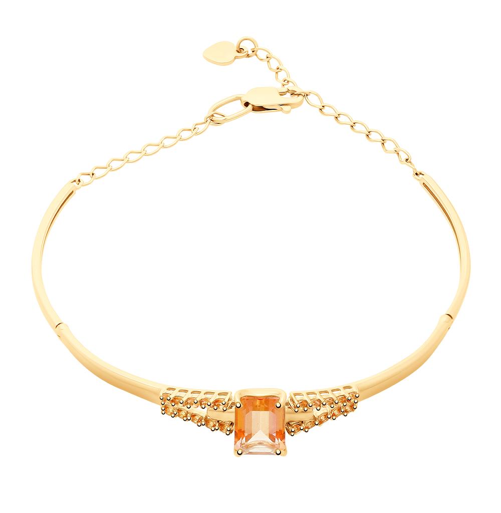 золотой браслет с топазами SOKOLOV 750298*