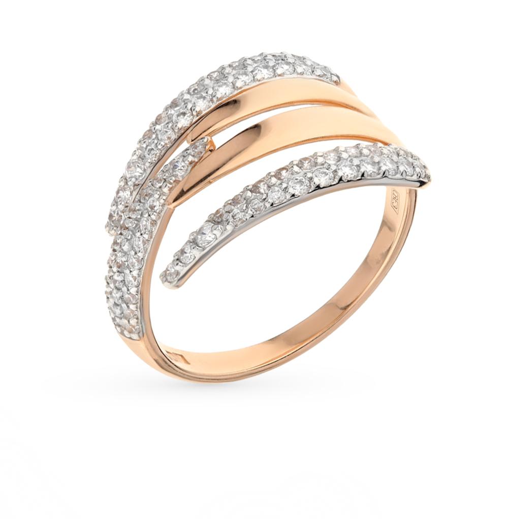 Фото «Золотое кольцо с фианитами SOKOLOV 017048*»