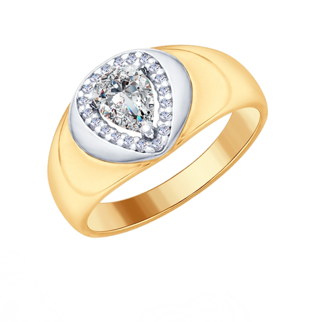 Фото «Серебряное кольцо с фианитами SOKOLOV 93010699»