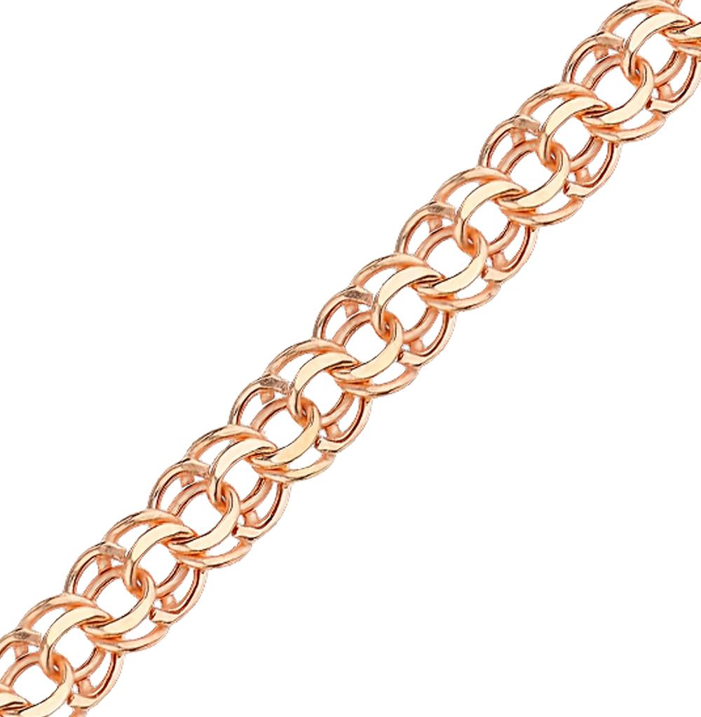 c221647e3330 Золотая цепь КРАСЦВЕТМЕТ НЦ 12-316ПГ 0,60   красное и розовое золото ...