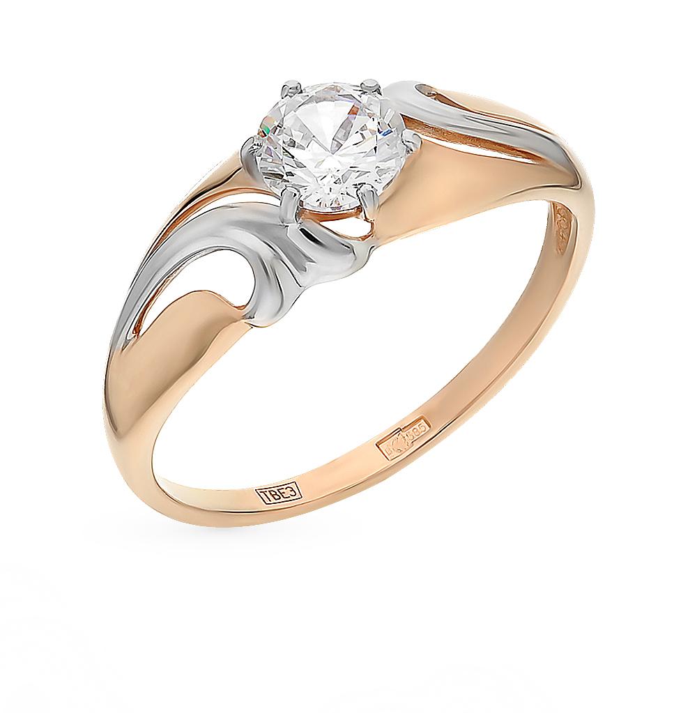 Фото «Золотое кольцо с фианитами SOKOLOV 017307*»