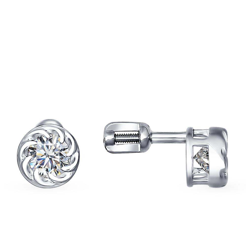 серебряные серьги с фианитами SOKOLOV 94021409