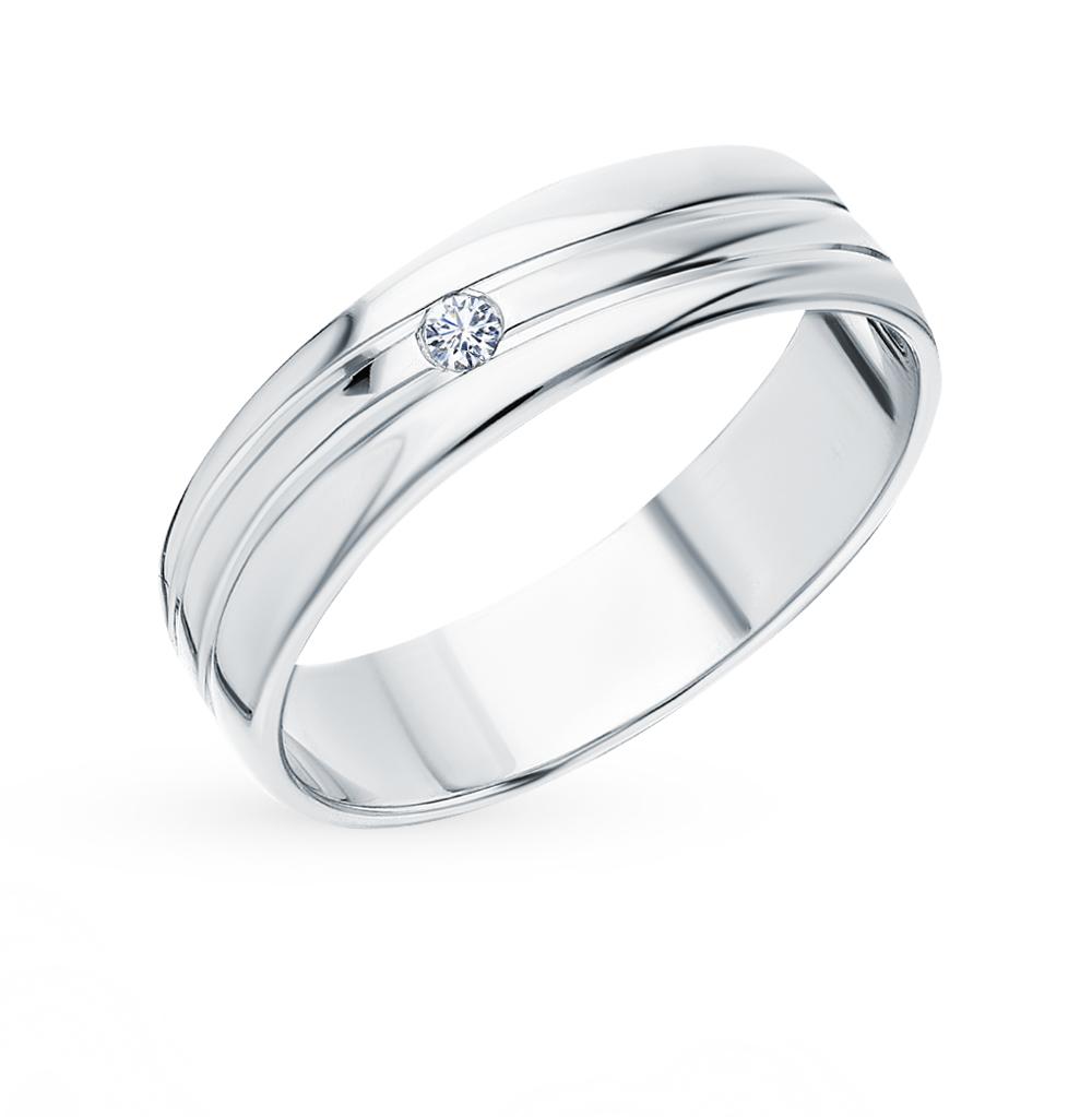 Золотое обручальное кольцо с бриллиантом в Екатеринбурге