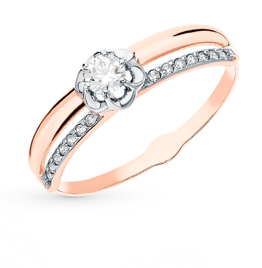 Фото «Золотое кольцо с фианитами SOKOLOV 018171*»