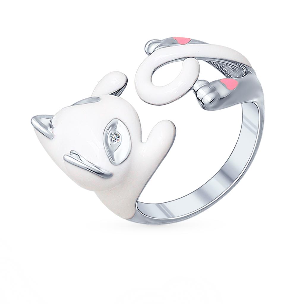 серебряное кольцо с фианитами SOKOLOV 94011779